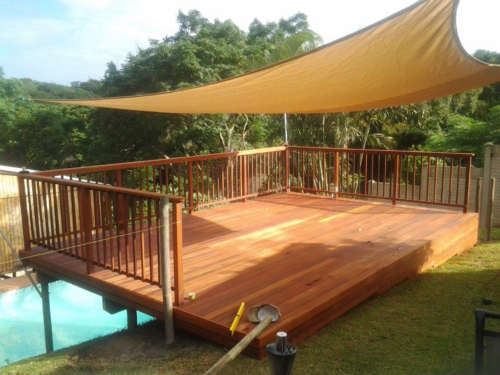 Pictures Of Sundecks Stairs And Benches: Wooden Sundeck Built In Toti, Durban Area