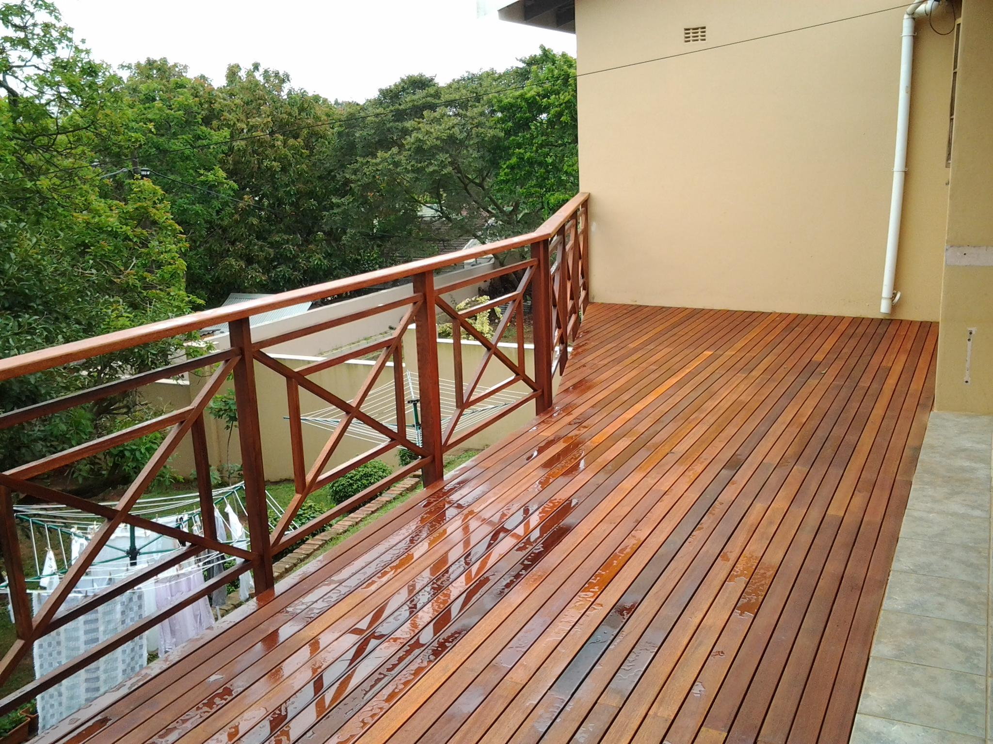 May 2013 the wood joint wooden decks and floors for Wooden balcony