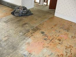 Removing floor adhesive