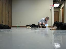Removing floor adhesive