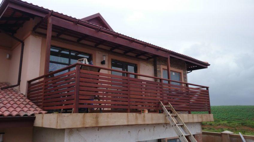 Wooden balustrades and pergolas Durban