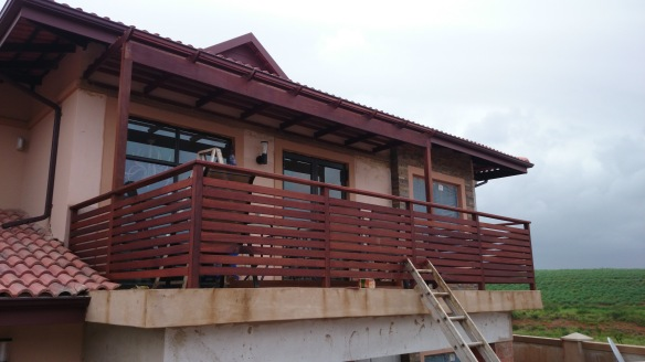 Wooden balustrades and pergolas Durban