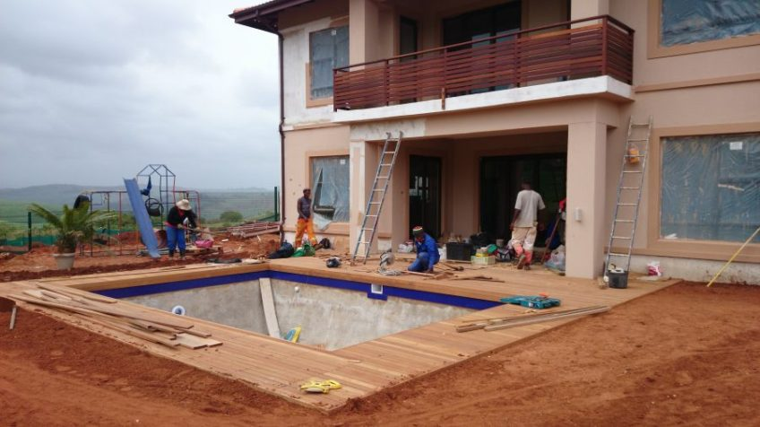Wooden pool deck Durban