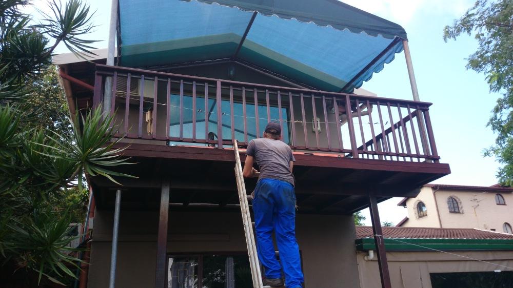 Wooden sun deck repairs Durban