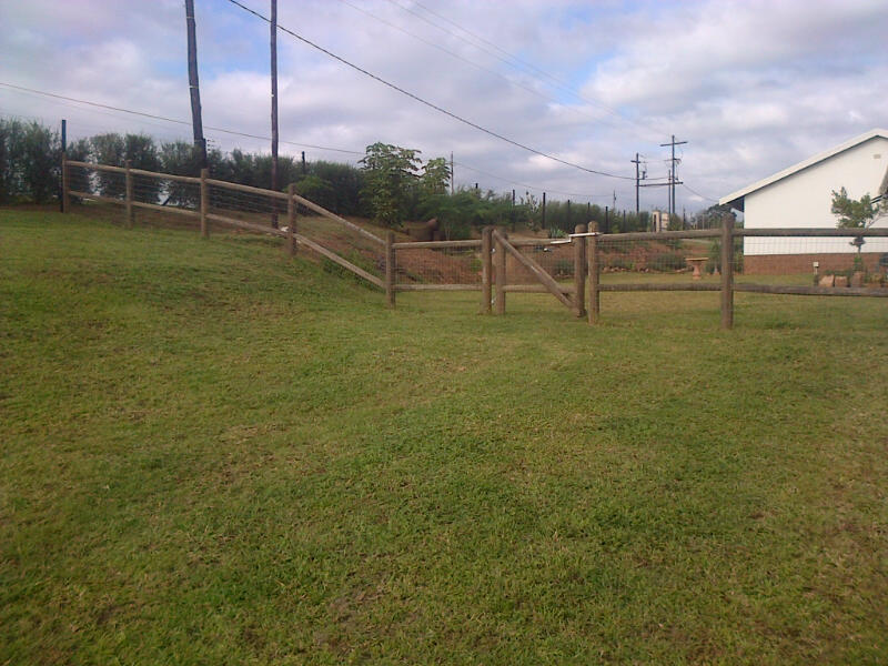 Wooden Post and Rail Fencing Durban (4/6)