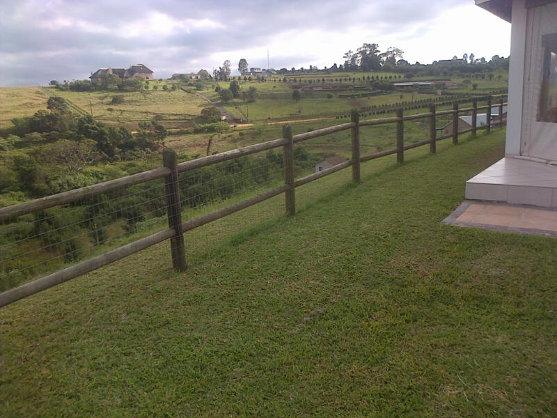 Wooden Post and Rail Fencing Durban (1/6)