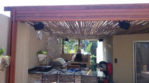 Wooden Pergola built in La Lucia, Durban (1/2)