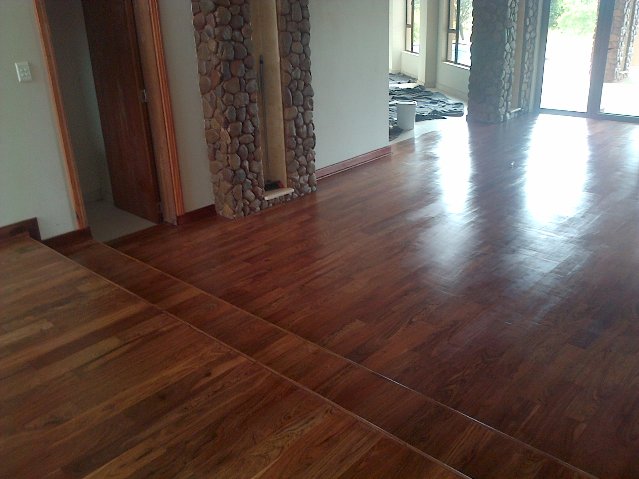 Solid Wood Floors All Brown Teak End Matched The Wood