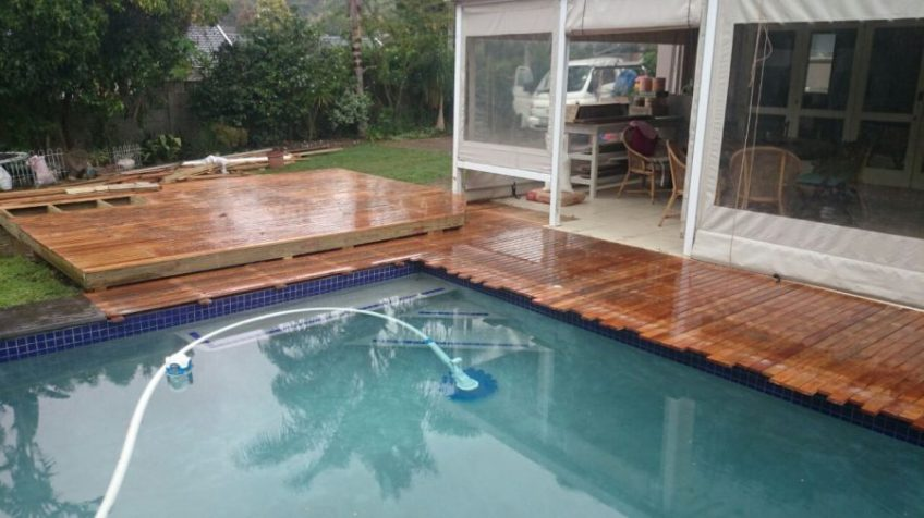 Wooden Pool Deck Pinetown December 2014 1