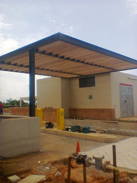 Steel And Timber Pergola, December 2015 5