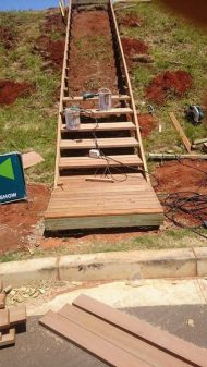 Temporary Timber Stairs Umhlanga February 2016 3