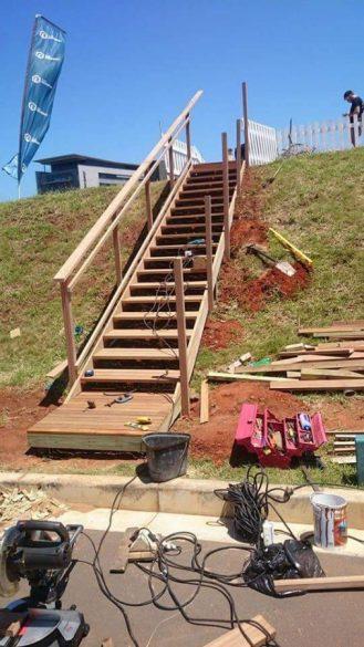 Temporary Timber Stairs Umhlanga February 2016 2