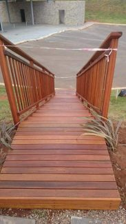 Temporary Timber Stairs Umhlanga February 2016 1