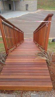 Temporary Timber Stairs Umhlanga February 2016 1