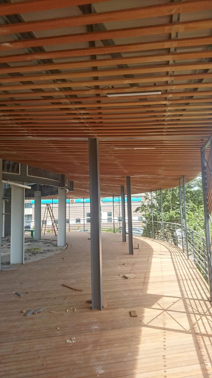 balau ceiling cladding at hillcrest corner, durban – the wood joint