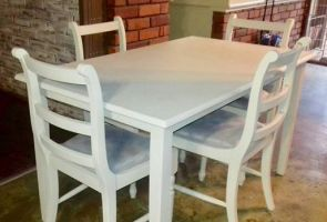 Upcycled dining suite