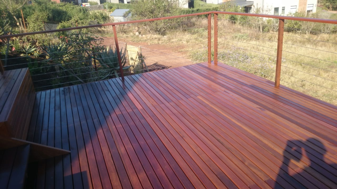 Wooden Balau Deck Cotswold Downs HIllcrest