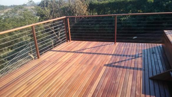 Wooden Balau Deck Cotswold Downs HIllcrest